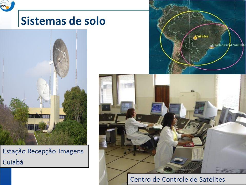 Sistemas de solo Centro de Controle de Satélites Estação Recepção Imagens Cuiabá