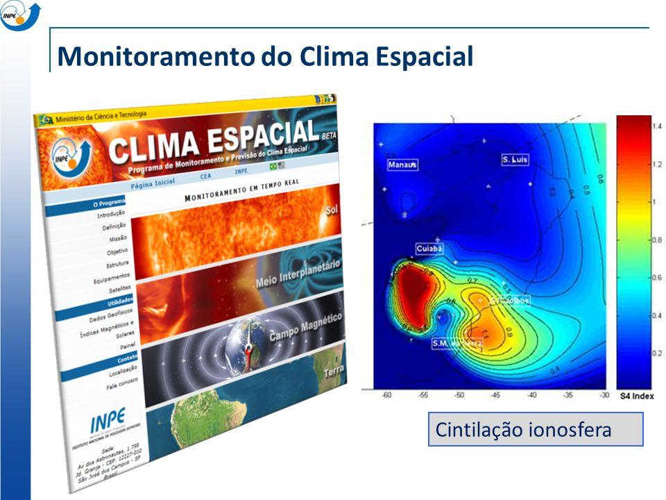 Monitoramento do Clima Espacial Cintilação ionosfera