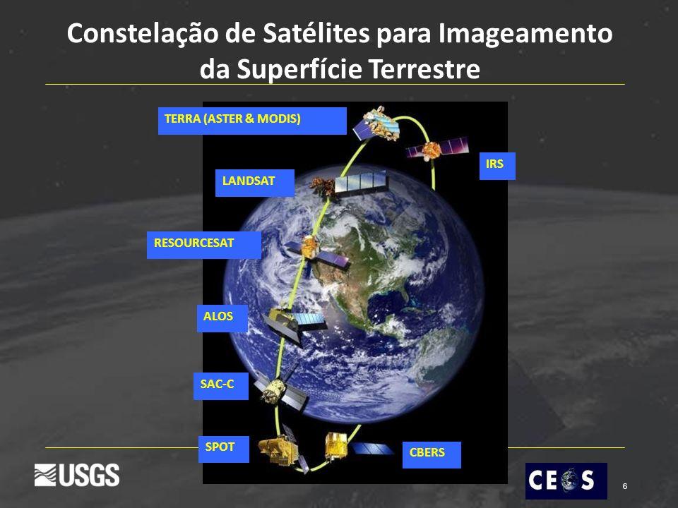 6 TERRA (ASTER & MODIS) LANDSAT SPOT ALOS RESOURCESAT IRS CBERS Constelação de Satélites para Imageamento da Superfície Terrestre SAC-C