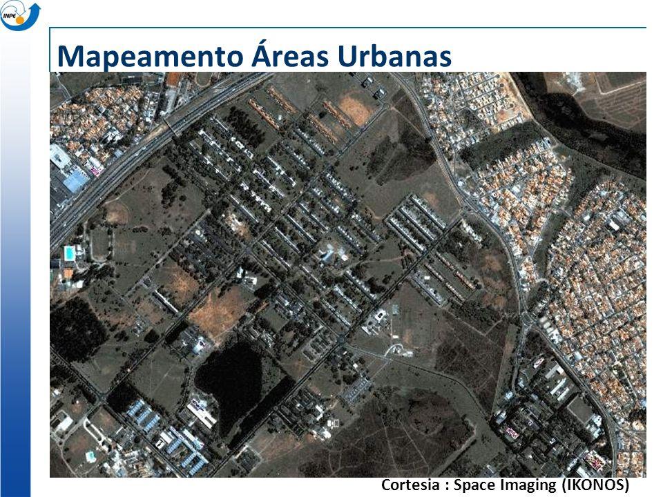 Mapeamento Áreas Urbanas Cortesia : Space Imaging (IKONOS)