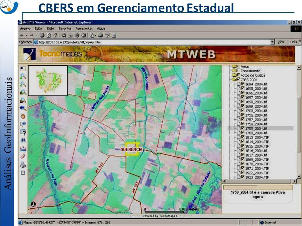 CBERS em Gerenciamento Estadual Análises GeoInformacionais