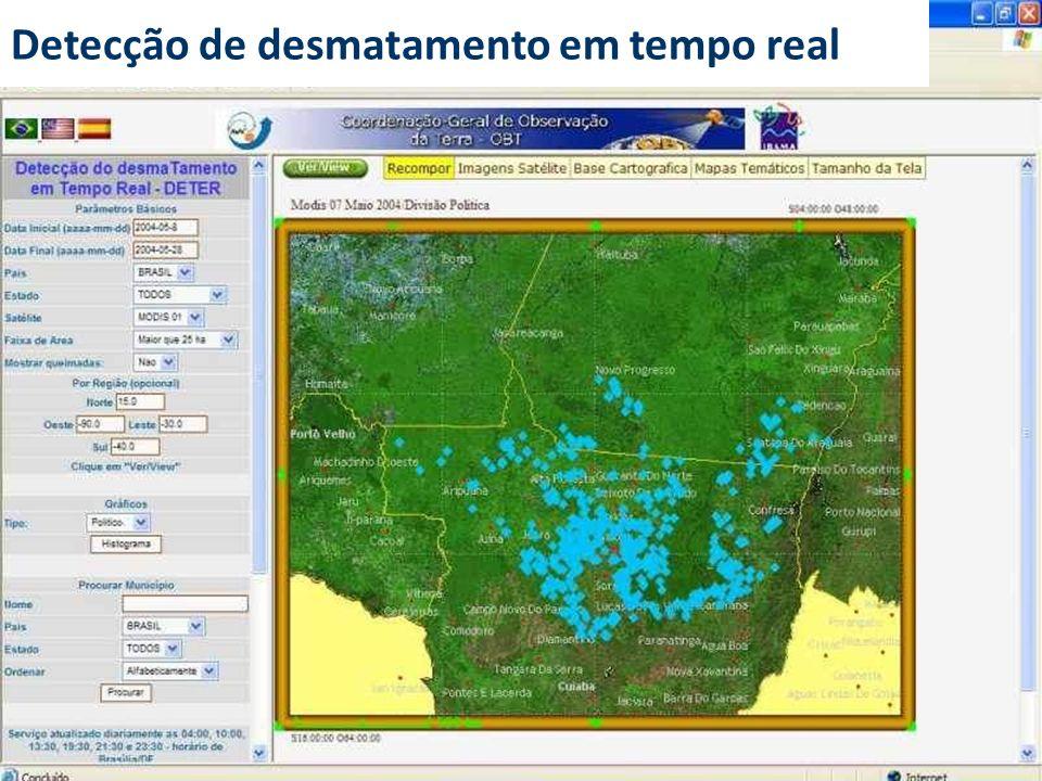 Detecção de desmatamento em tempo real