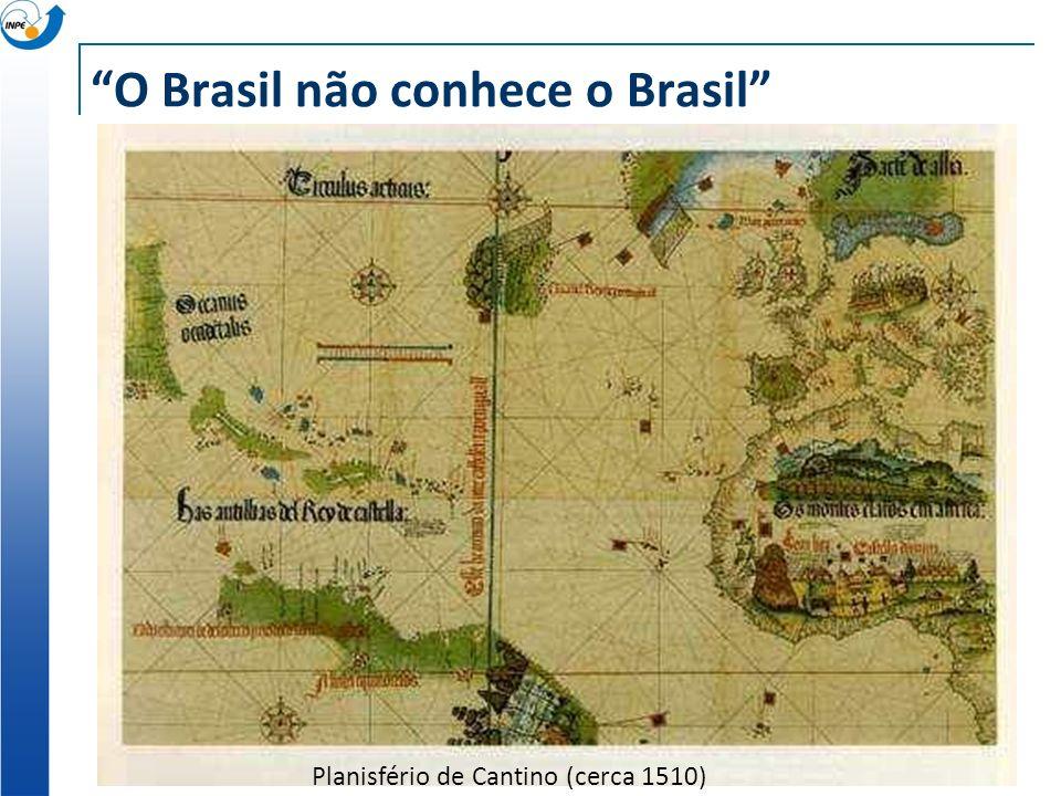 O Brasil não conhece o Brasil Planisfério de Cantino (cerca 1510)
