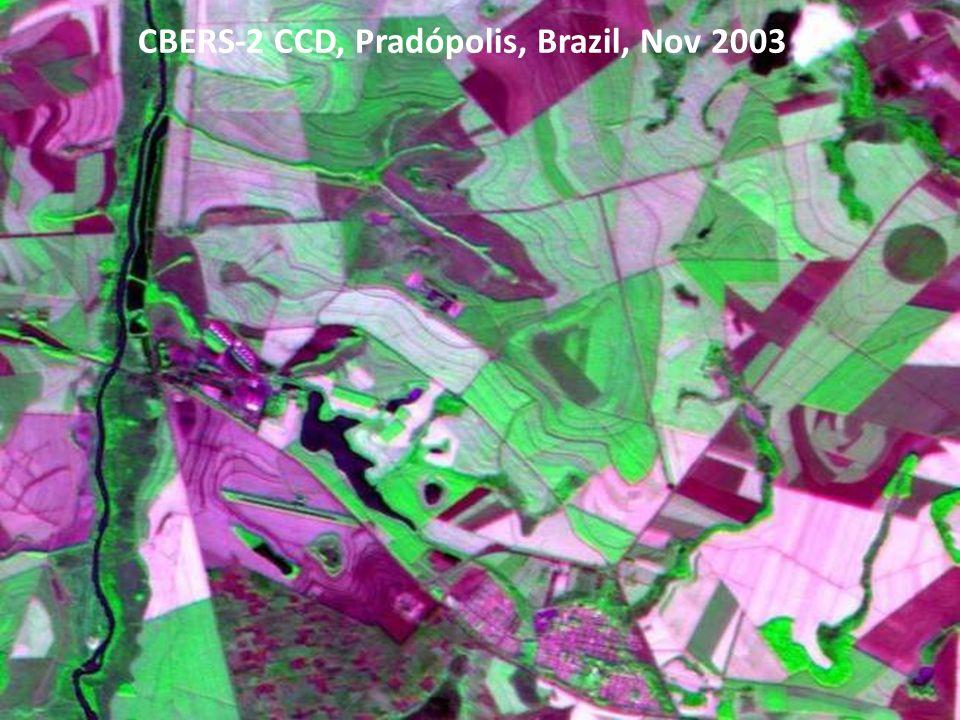 CBERS-2 CCD, Pradópolis, Brazil, Nov 2003