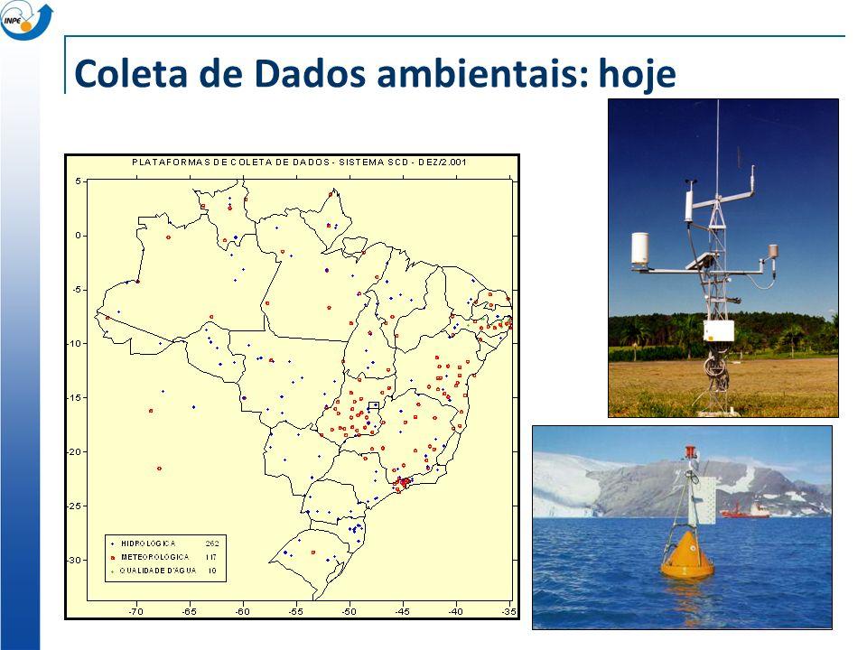 Coleta de Dados ambientais: hoje