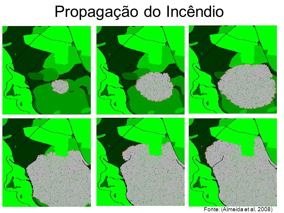 STUDY AREA Propagação do Incêndio Fonte: (Almeida et al, 2008)