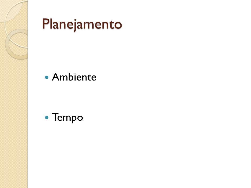 Preparação Fala com boa intensidade Bom ritmo Vocabulário adequado Postura correta