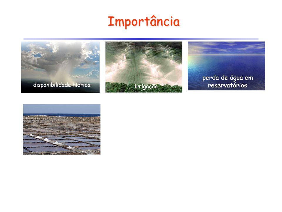 Importância disponibilidade hídrica irrigação perda de água em reservatórios
