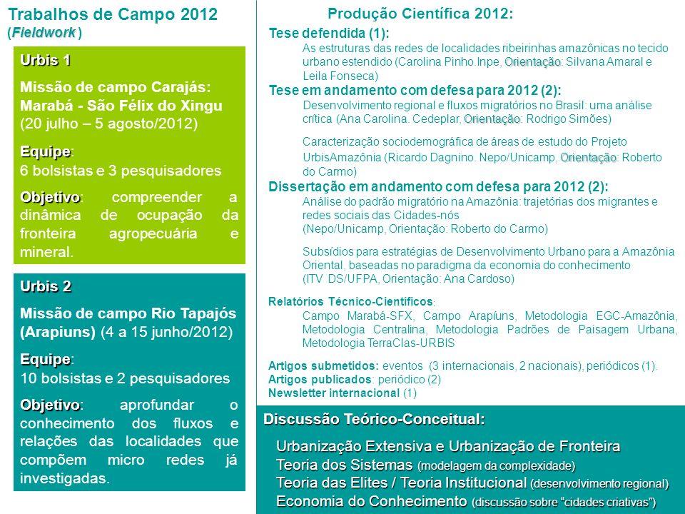 Urbis 2 Missão de campo Rio Tapajós (Arapiuns) (4 a 15 junho/2012) Equipe Equipe: 10 bolsistas e 2 pesquisadores Objetivo Objetivo: aprofundar o conhe