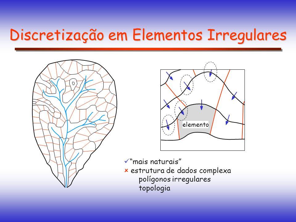 mais naturais estrutura de dados complexa polígonos irregulares topologia Discretização em Elementos Irregulares elemento
