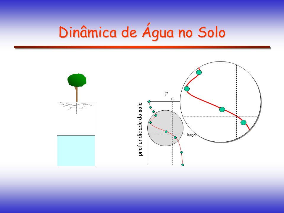 Dinâmica de Água no Solo profundidade do solo 0 lençol freático
