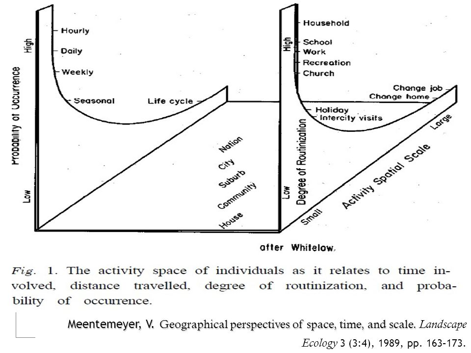 Meentemeyer, V. Geographical perspectives of space, time, and scale. Meentemeyer, V. Geographical perspectives of space, time, and scale. Landscape Ec