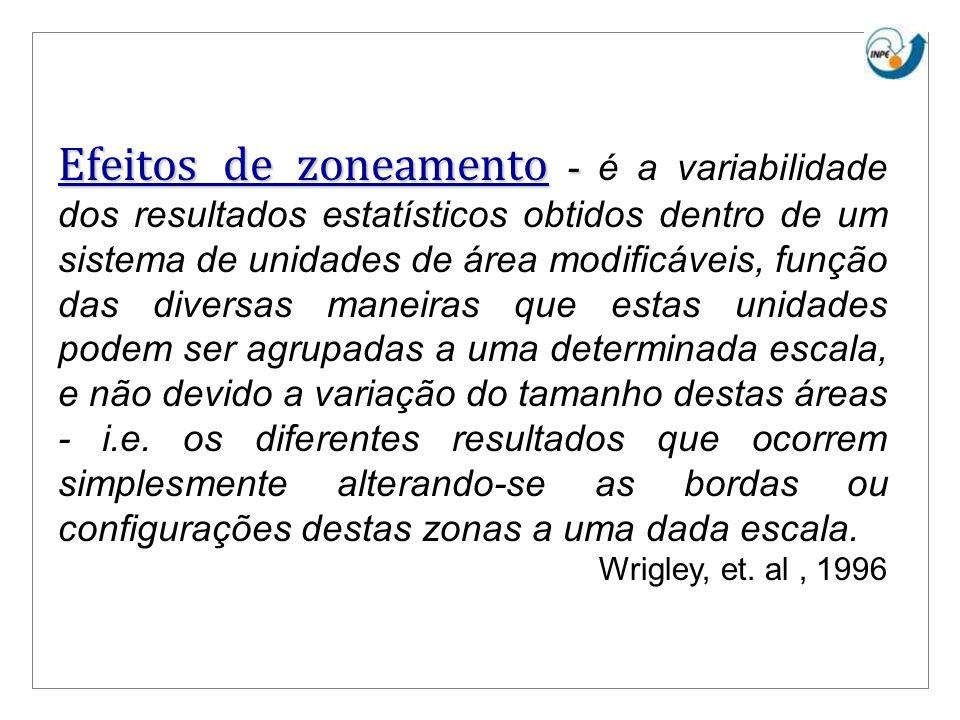 Efeitos de zoneamento - Efeitos de zoneamento - é a variabilidade dos resultados estatísticos obtidos dentro de um sistema de unidades de área modific