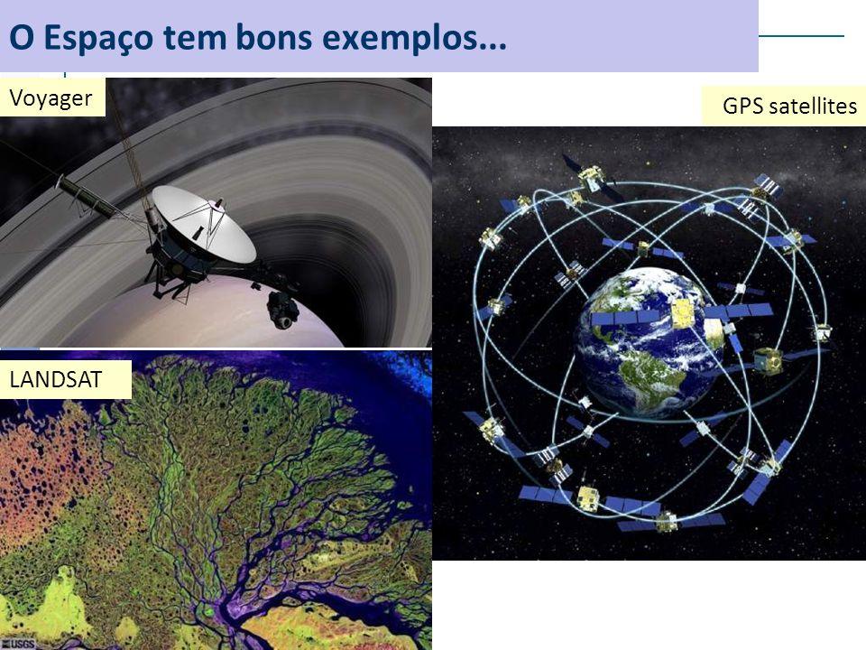 O Espaço tem bons exemplos... Voyager LANDSAT GPS satellites