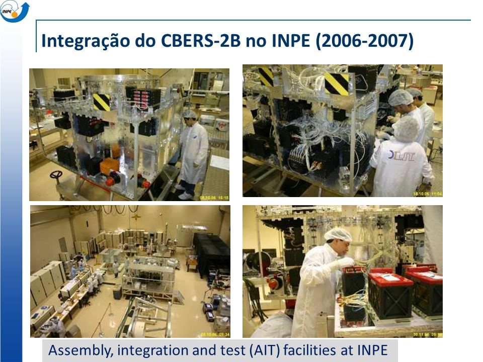 Integração do CBERS-2B no INPE (2006-2007) Assembly, integration and test (AIT) facilities at INPE