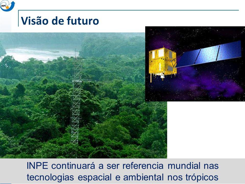 Visão de futuro INPE continuará a ser referencia mundial nas tecnologias espacial e ambiental nos trópicos