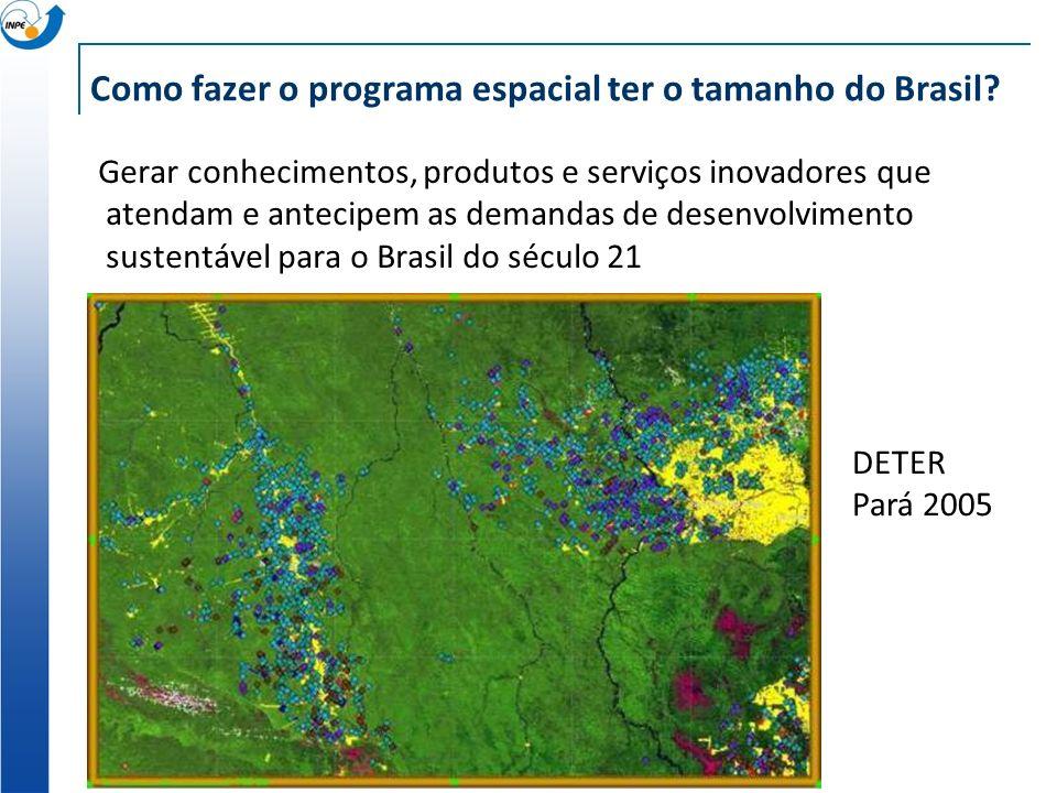 Como fazer o programa espacial ter o tamanho do Brasil.