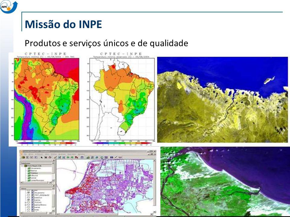 Missão do INPE Produtos e serviços únicos e de qualidade