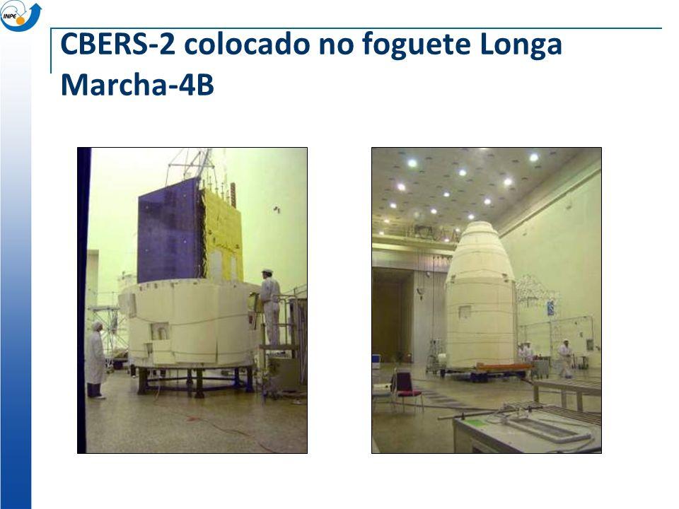 CBERS-2 colocado no foguete Longa Marcha-4B