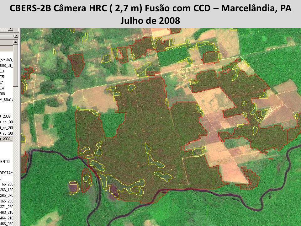 CBERS-2B Câmera HRC ( 2,7 m) Fusão com CCD – Marcelândia, PA Julho de 2008