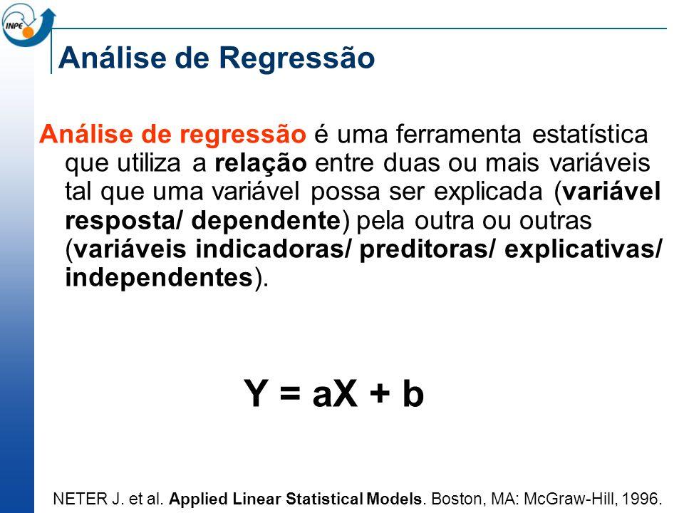 Análise de Regressão Análise de regressão é uma ferramenta estatística que utiliza a relação entre duas ou mais variáveis tal que uma variável possa s