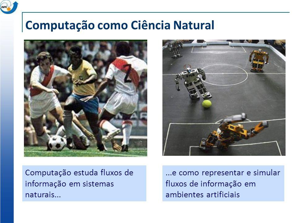 Computação como Ciência Natural Computação estuda fluxos de informação em sistemas naturais......e como representar e simular fluxos de informação em