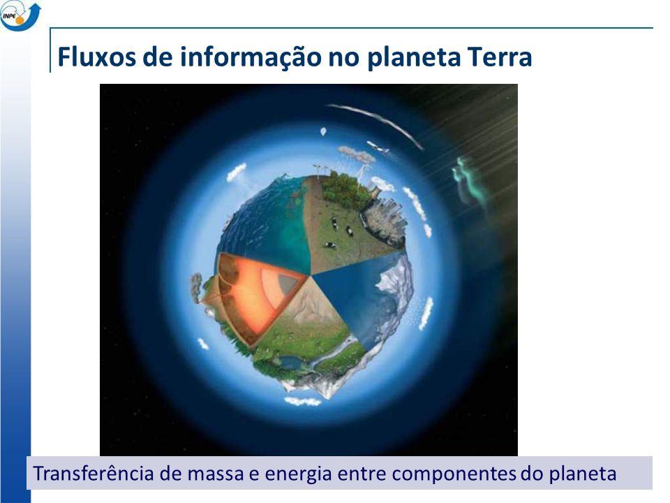 Fluxos de informação no planeta Terra Transferência de massa e energia entre componentes do planeta