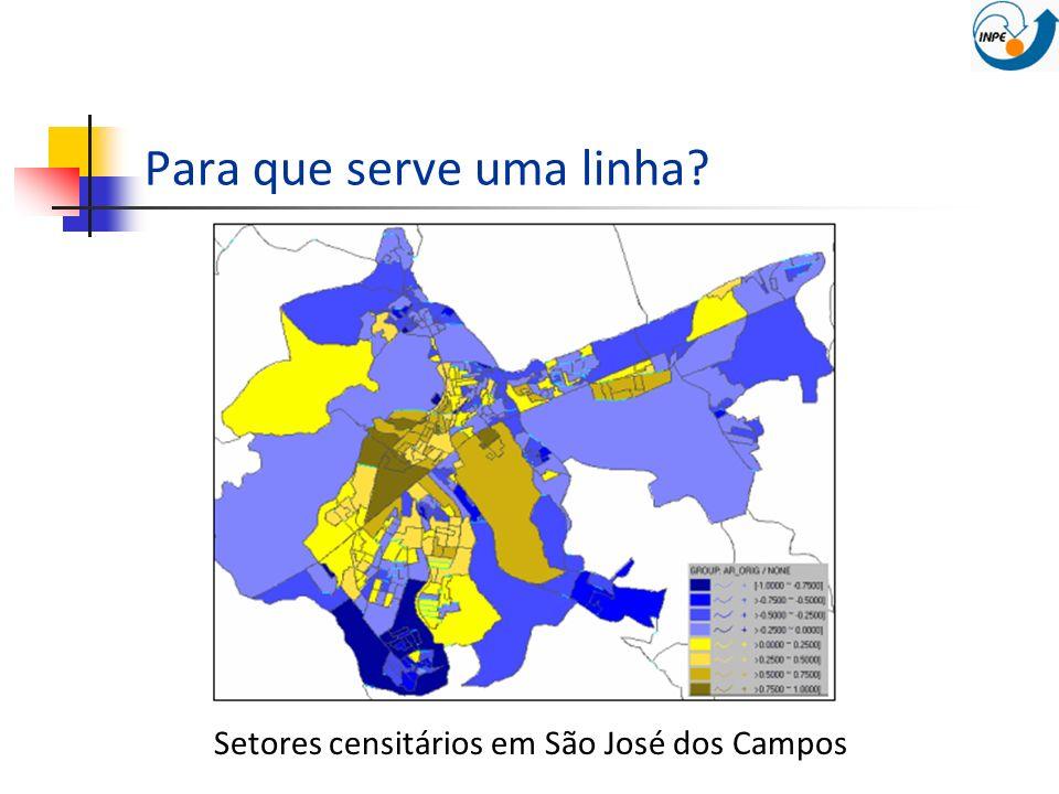Para que serve uma linha? Setores censitários em São José dos Campos