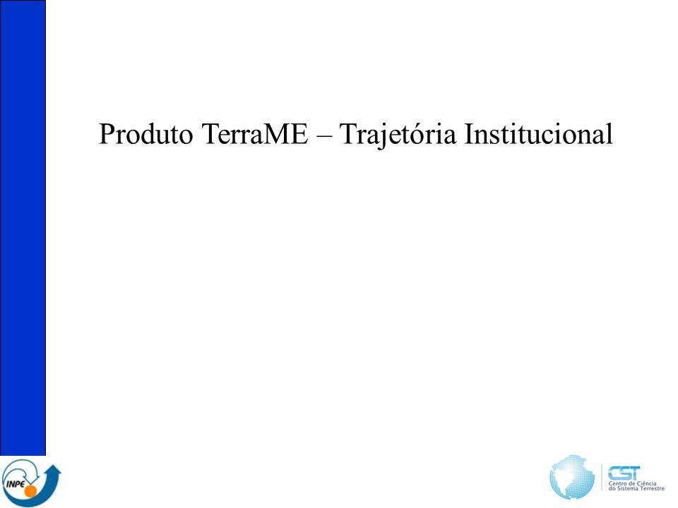 Produto TerraME – Trajetória Institucional
