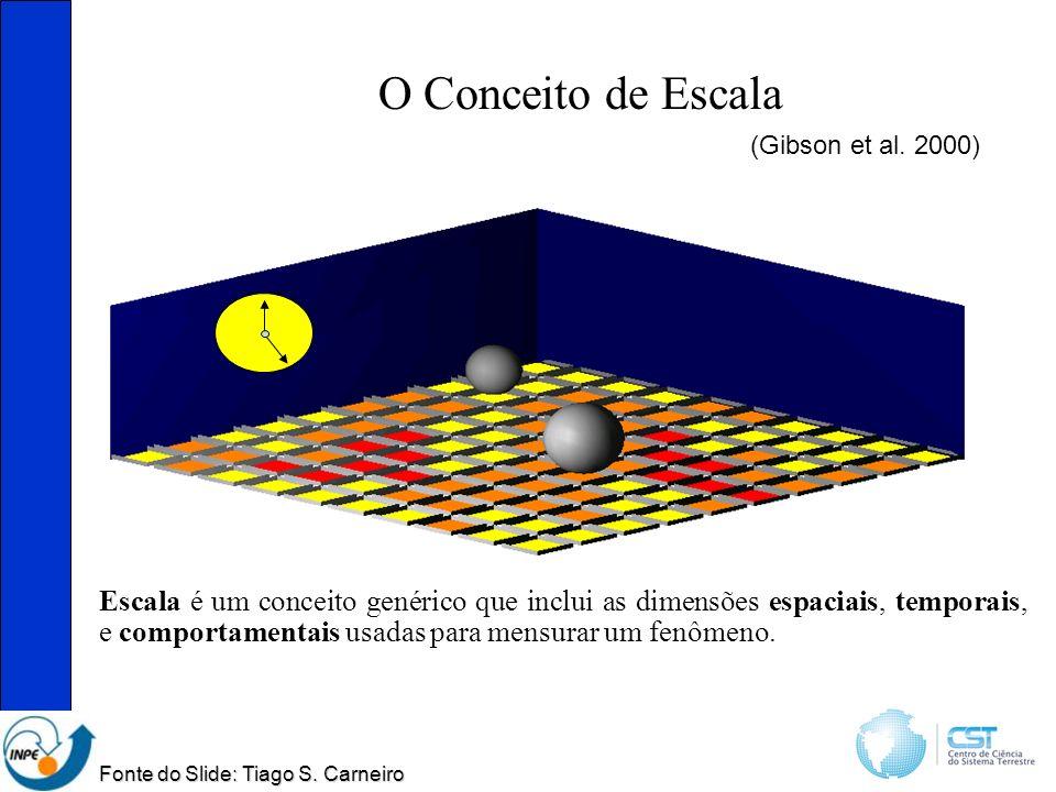 O Conceito de Escala Escala é um conceito genérico que inclui as dimensões espaciais, temporais, e comportamentais usadas para mensurar um fenômeno.