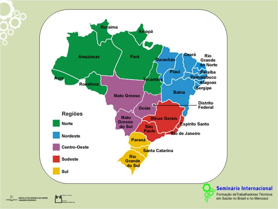 Estabelecimentos e Cursos por Grandes Regiões Brasil, 2007 (Fase 1) Fonte: CNCT/MEC