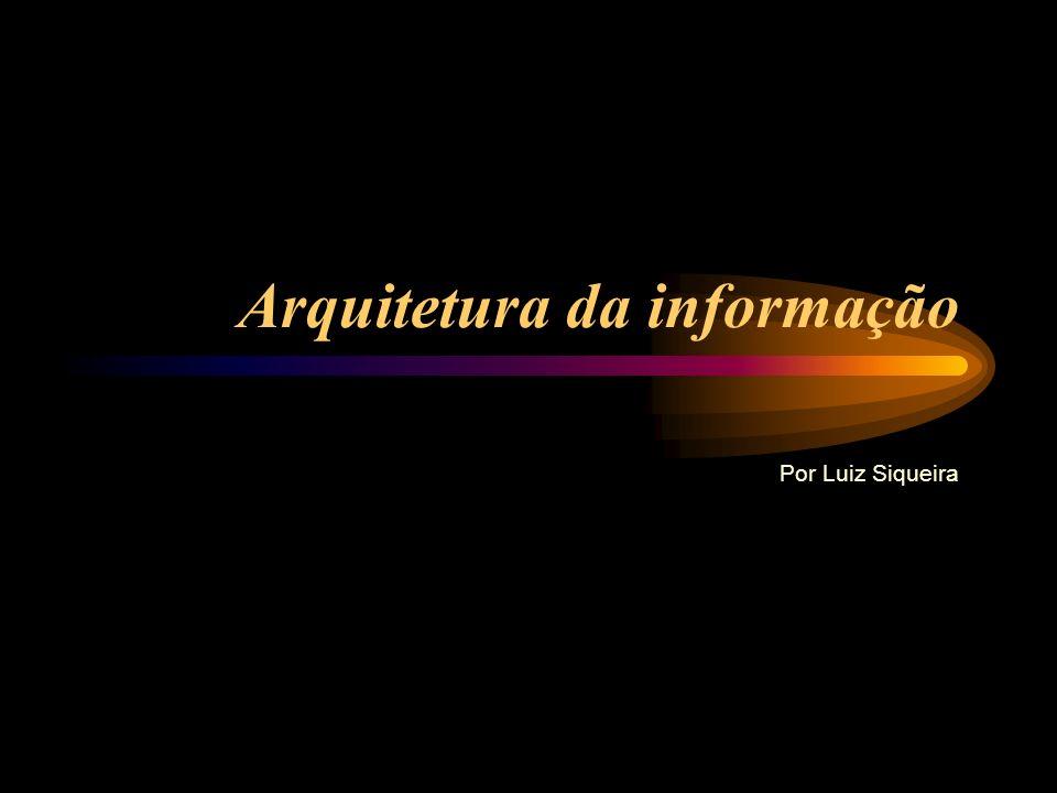 Arquitetura da informação Por Luiz Siqueira