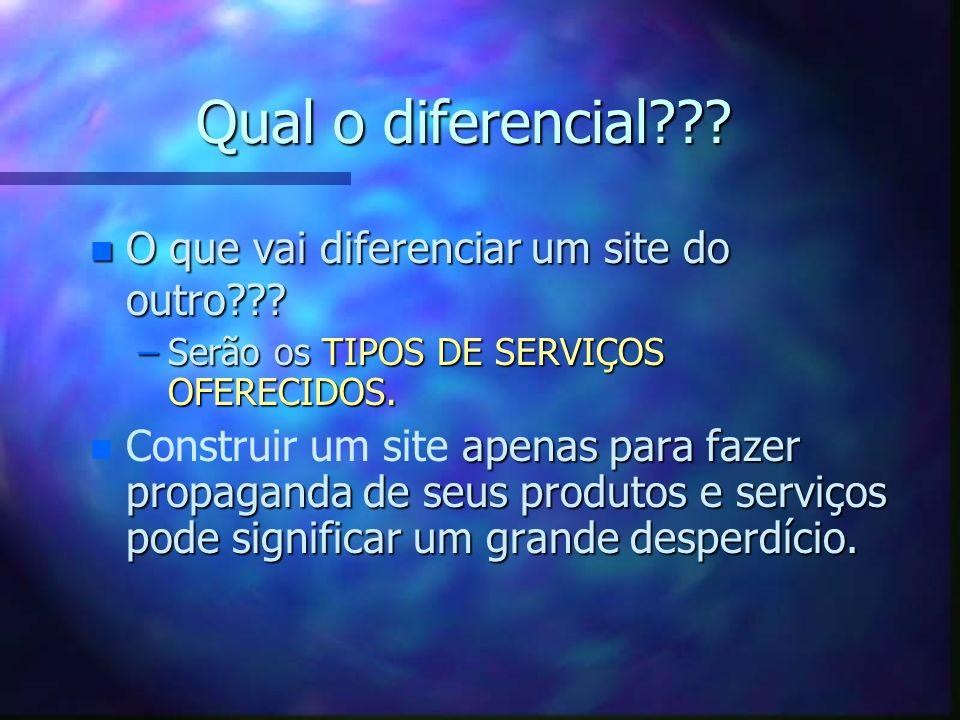 Qual o diferencial??.n O que vai diferenciar um site do outro??.