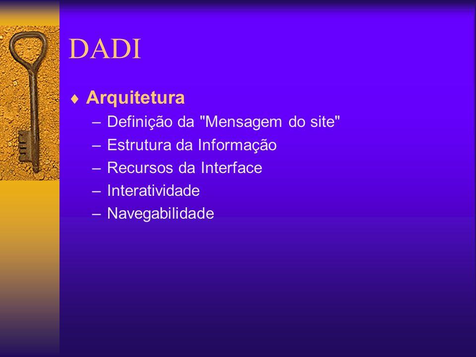 DADI Arquitetura –Definição da