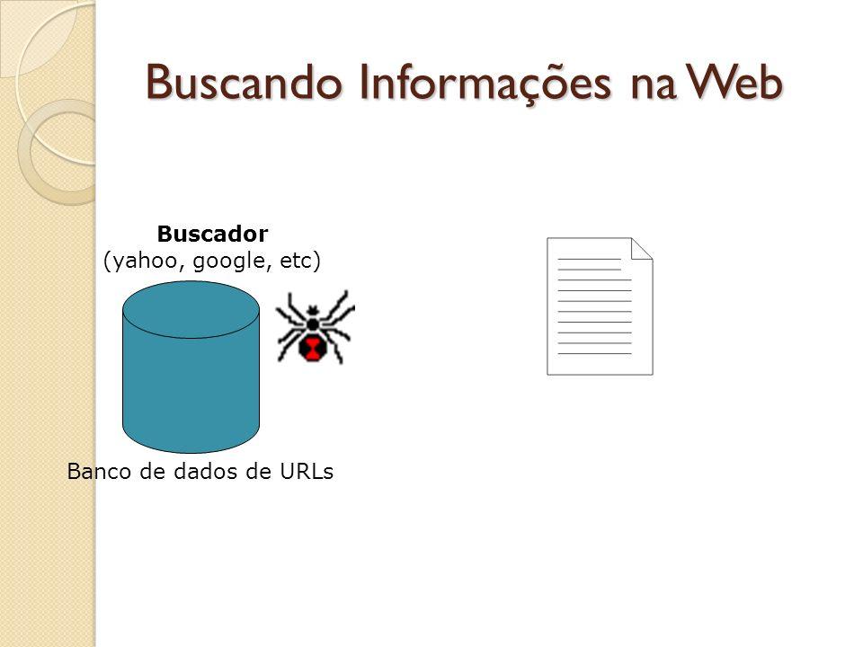 Buscando Informações na Web Banco de dados de URLs Buscador (yahoo, google, etc)