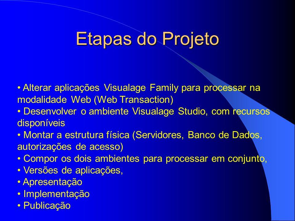 Alteração da Visualage Family Alterar o fonte dos programas em ambiente Visualage Java e Generator para ambiente Web Transaction, Alterar as telas padrões geradas pelo produto via Studio