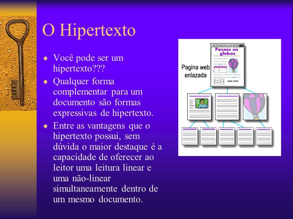 O Hipertexto Você pode ser um hipertexto??.