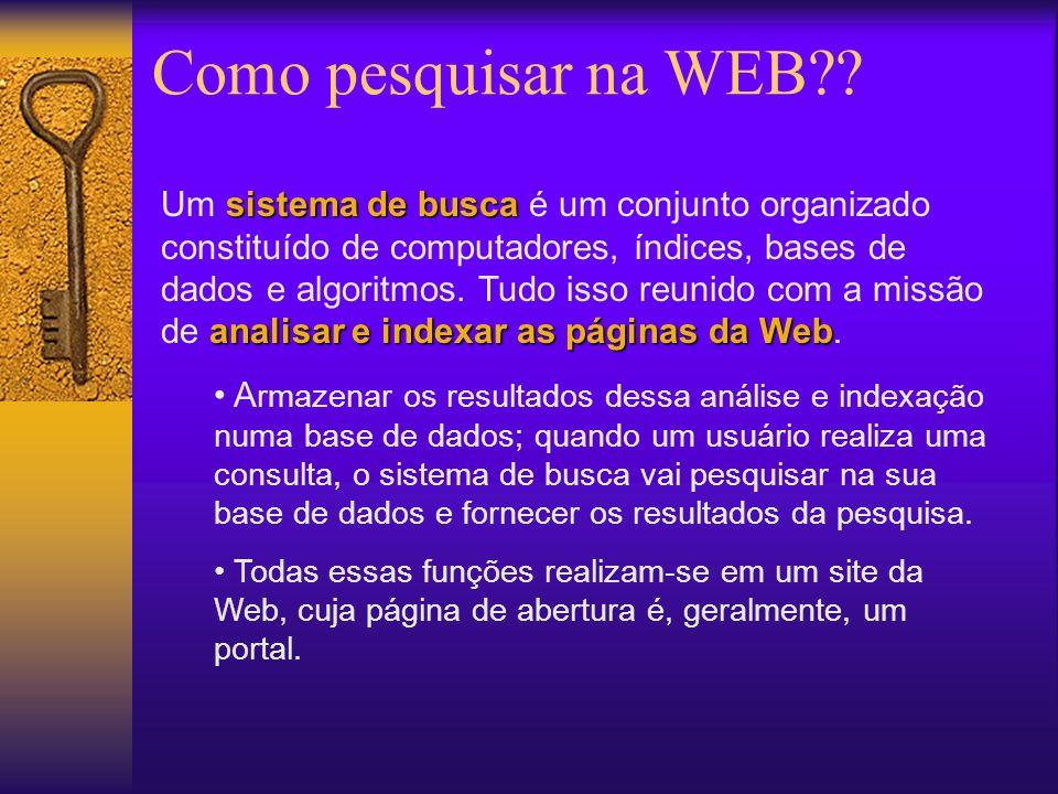 Como pesquisar na WEB .