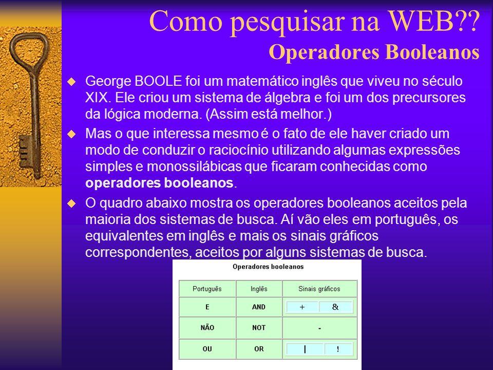George BOOLE foi um matemático inglês que viveu no século XIX.