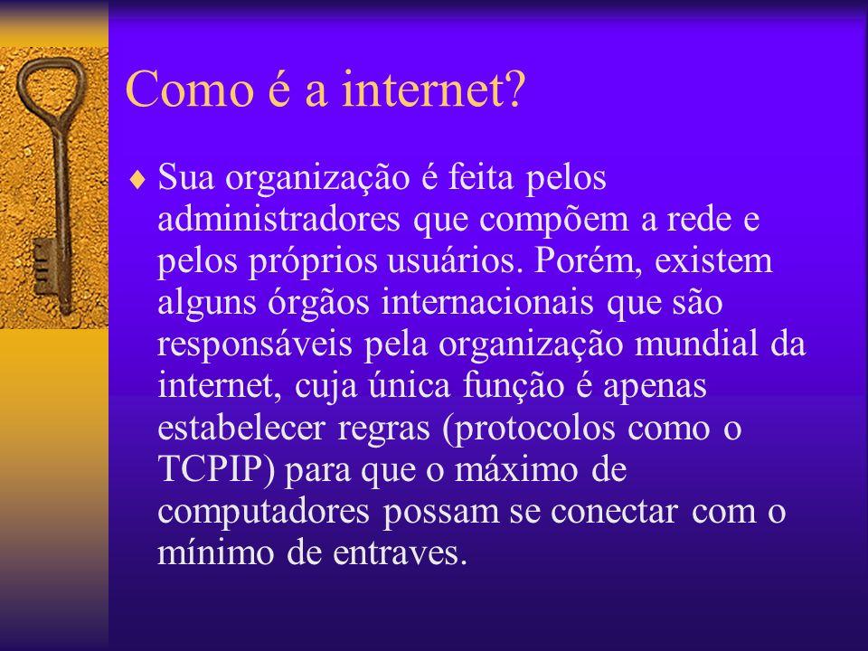 Como é a internet.
