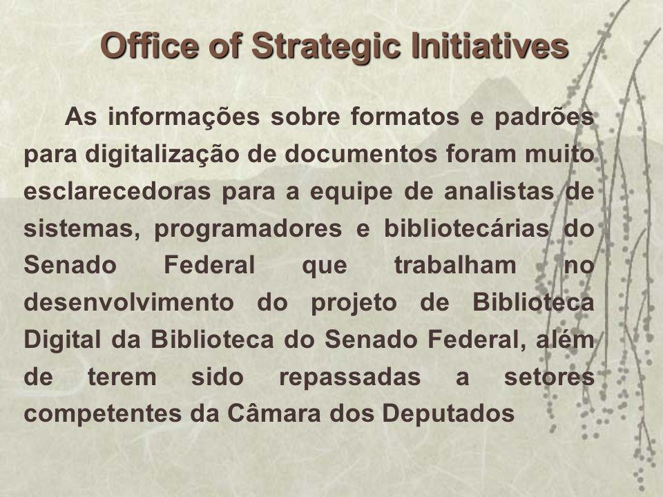As informações sobre formatos e padrões para digitalização de documentos foram muito esclarecedoras para a equipe de analistas de sistemas, programado
