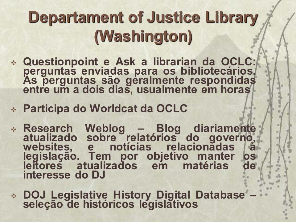 Questionpoint e Ask a librarian da OCLC: perguntas enviadas para os bibliotecários. As perguntas são geralmente respondidas entre um a dois dias, usua