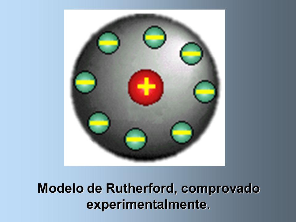 E em 1911, Ernest Rutherford, baseado nos estudos de Niels Bohr, propôs o modelo atômico que usamos até hoje.