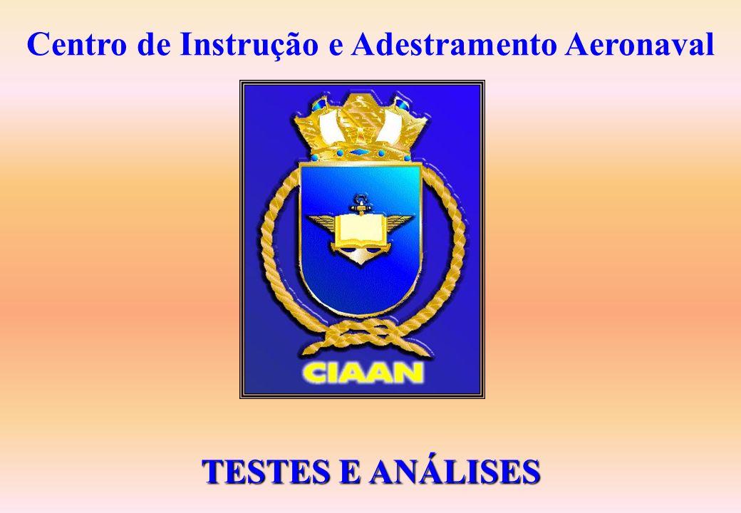 Centro de Instrução e Adestramento Aeronaval TESTES E ANÁLISES