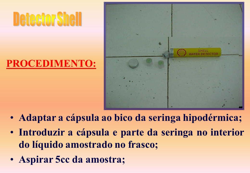 uma cápsula de plástico contendo um disco de papel filtrante embebido em reagente; Uma seringa hipodérmica de 5cc com bico tipo record. ESPECIFICAÇÃO: