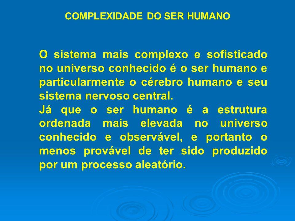 O sistema mais complexo e sofisticado no universo conhecido é o ser humano e particularmente o cérebro humano e seu sistema nervoso central. Já que o