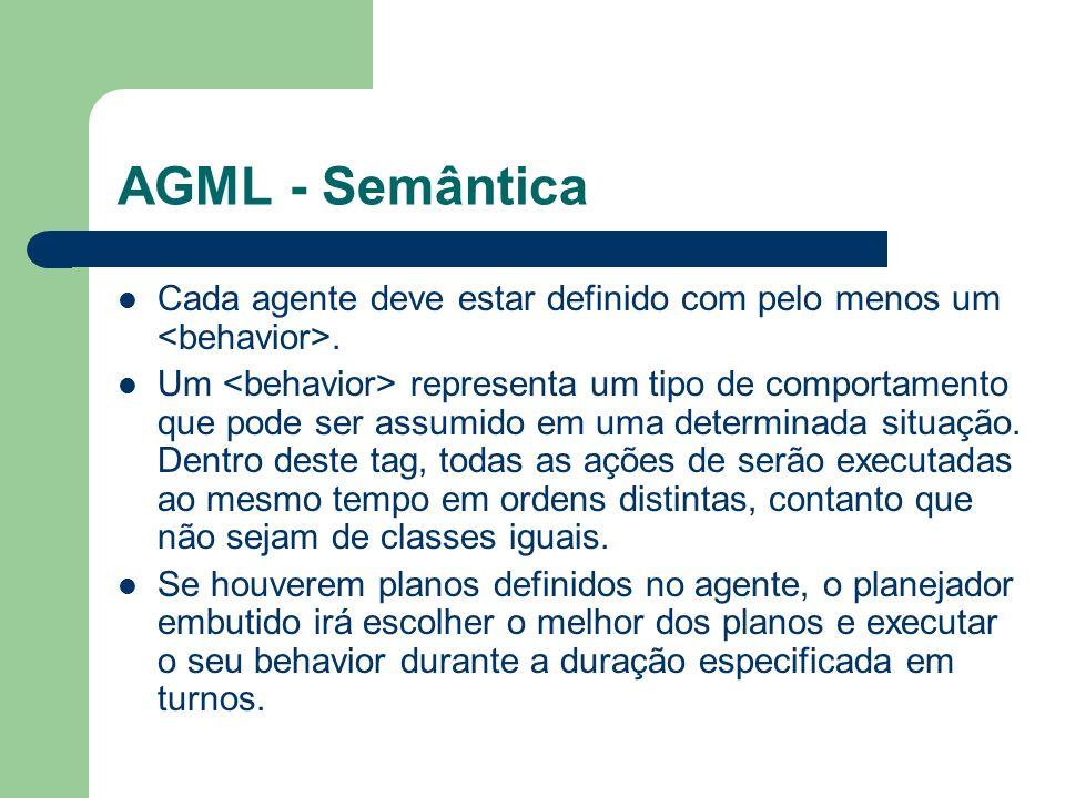 AGML - Semântica Cada agente deve estar definido com pelo menos um.