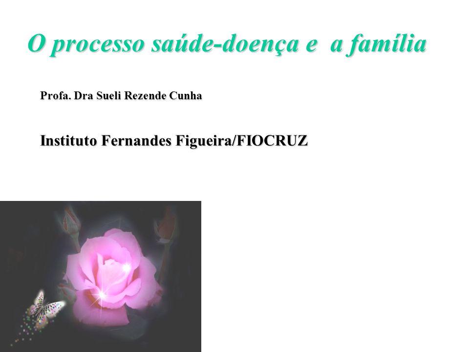 O processo saúde-doença e a família Profa. Dra Sueli Rezende Cunha Instituto Fernandes Figueira/FIOCRUZ a a partir de 25 anos
