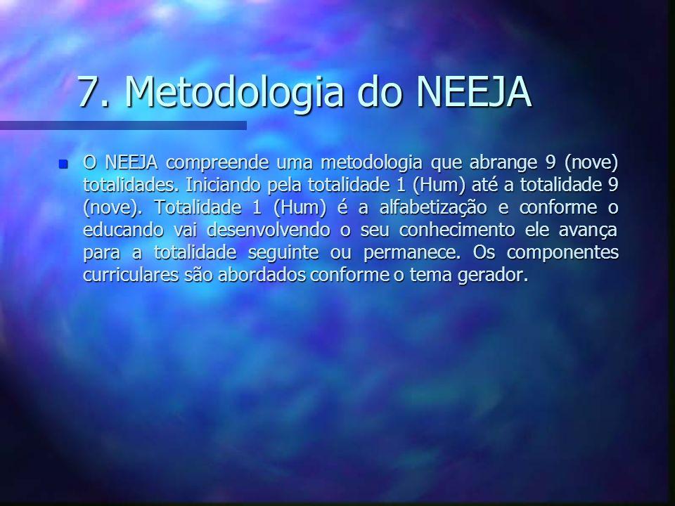 7. Metodologia do NEEJA n O NEEJA compreende uma metodologia que abrange 9 (nove) totalidades.