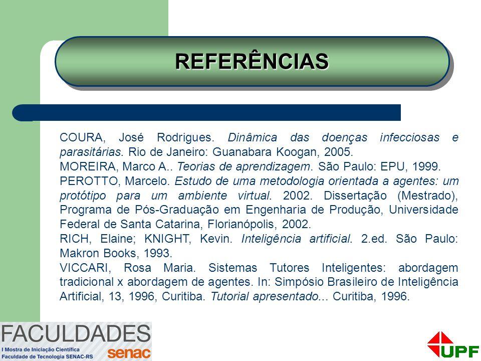 REFERÊNCIASREFERÊNCIAS COURA, José Rodrigues. Dinâmica das doenças infecciosas e parasitárias. Rio de Janeiro: Guanabara Koogan, 2005. MOREIRA, Marco